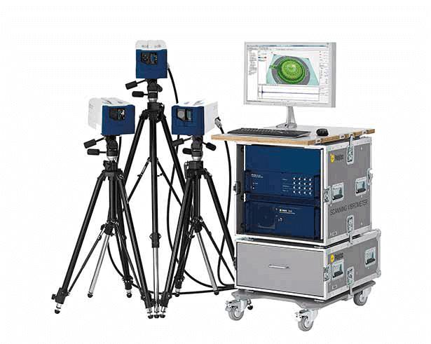 Schwingungen messen Sie optisch und berührungslos mit einem Scanning Vibrometer PSV-500. Eingesetzt werden Scanning Vibrometer für die experimentelle Modalanalyse und Betriebsschwingformanalyse