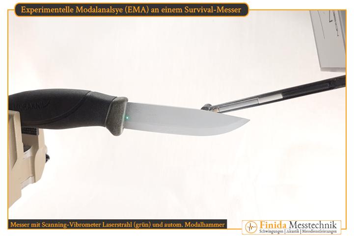 Schwingungsmesstechnik-Equipment für Modalanalyse mit Impulshammer und Scanning-Vibrometer zur optischen und kontaktlosen Geschwindigkeitsmessung