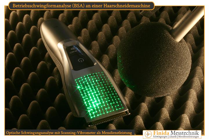 Optische Schwingungsanalyse Dienstleistung mit Scanning-Vibrometer von Finida Messtechnik